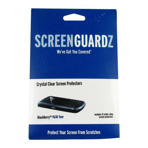 Original ScreenGuardz Blackberry Bold 9650 & Tour 9630 Crystal Clear Screen Protectors -15 Pack