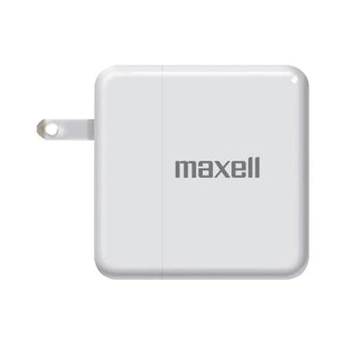 Original Maxell USB Power Charge w/ Retractable Prongs and LED Light Indicator, P-24 - White