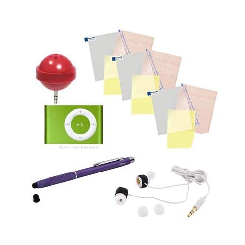 Phone Geek Essential Bundle Package w/ iClooly Stylus, Lollipop 3.5mm Speaker, 3.5mm Headset, & Screen Protector