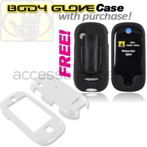 Motorola Evoke QA4 Hard Case - White (FREE Body Glove Case CRC90962)