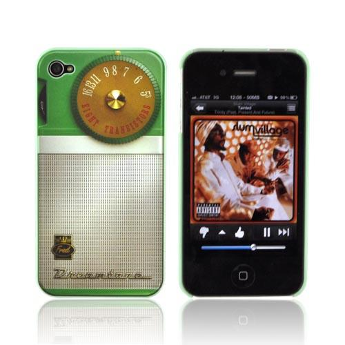 Original Fred & Friends AT&T/ Verizon Apple iPhone 4, iPhone 4S Re/Cover Snap-On Case, RERAD - Retro Radio