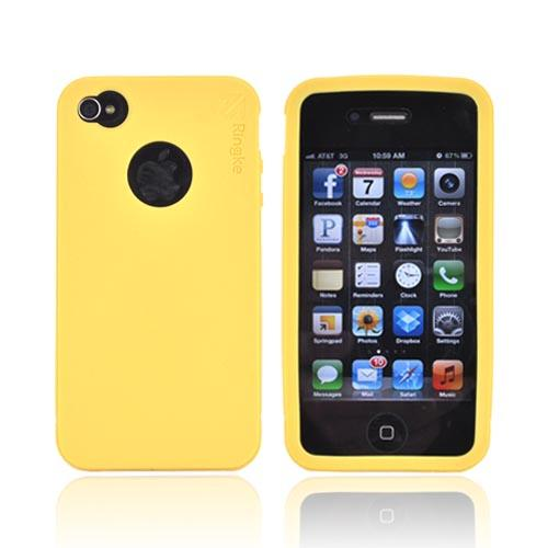 Original Rearth Apple iPhone 4S Ringke Silicone Case - Mango