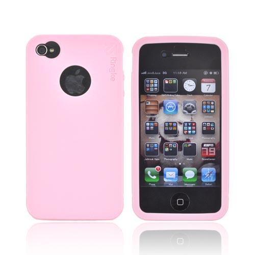 Original Rearth Apple iPhone 4S Ringke Silicone Case - Pink