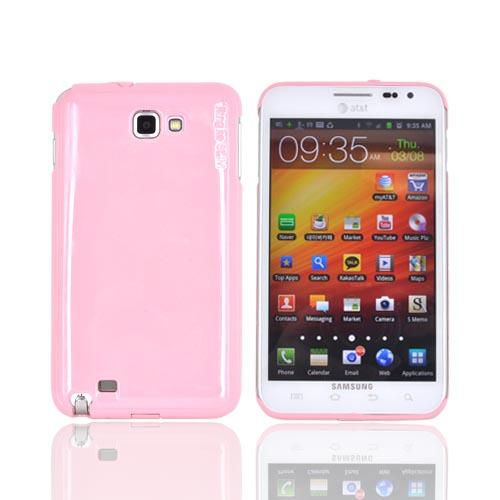 Original Rearth Samsung Galaxy Note Ringke Slim Hard Case w/ Screen Protector - Baby Pink