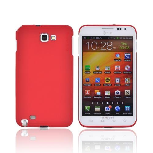 Original Rearth Samsung Galaxy Note Ringke Slim Hard Case w/ Screen Protector - Red