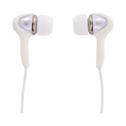 Original Skullcandy Smokin' Buds Universal Headset w/ Mic, S2SBDW-075 - White (3.5mm)