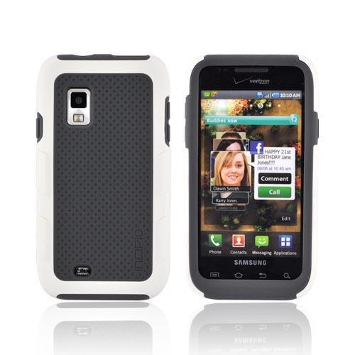 Original Incipio Samsung Fascinate Silicrylic Dual Hard Case on Silicone w/ Screen Protector, SA-161 - White/ Gray