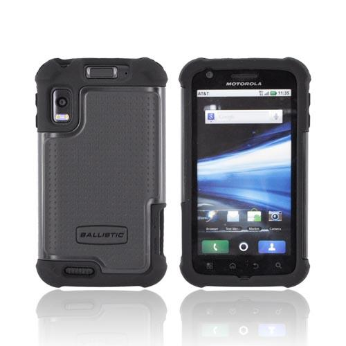 Original Ballistic Motorola Atrix SG Hard Case on Silicone, SA0578-M005 - Black