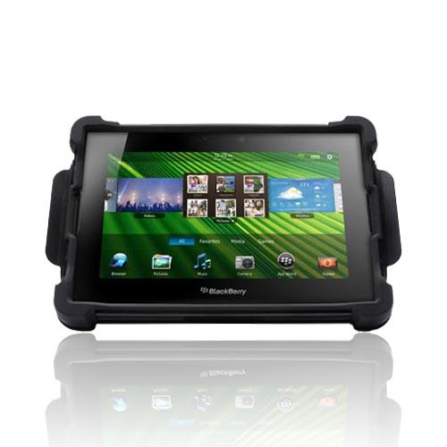 Original Ballistic Blackberry Playbook Tough Jack Hard Case on Silicone & Cover/ Stand, SA0597-M005 - Black