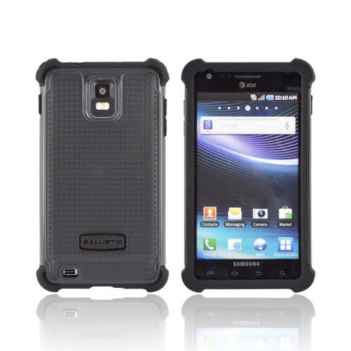Original Ballistic Samsung Infuse i997 SG Hard Case on Silicone, SA0600-M005 - Black