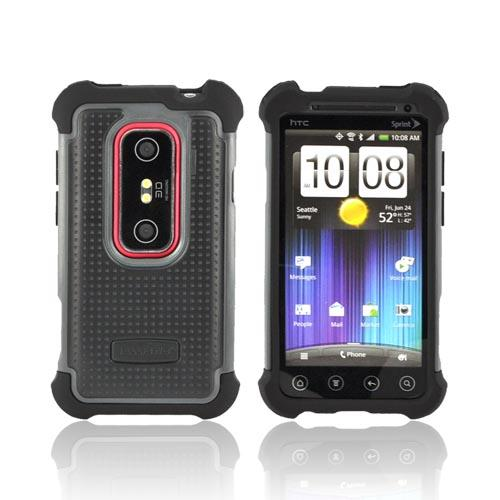 Original Ballistic HTC EVO 3D SG Hard Case on Silicone, SA0699-M315 - Gray/ Black