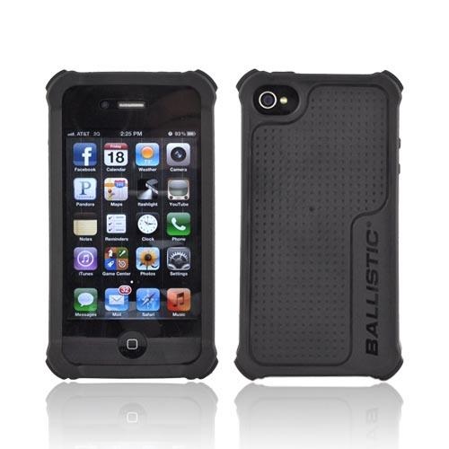 Original Ballistic LifeStyle AT&T/ Verizon iPhone 4, iPhone 4S Gel Skin Case w/ Interchangable Corner Bumpers, SA0722-M005 - Black/ Red