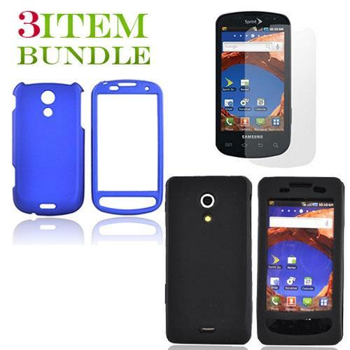 Samsung Epic 4G Bundle Package - Blue Hard Case, Silicone Case & Screen Protector - (Essential Combo)
