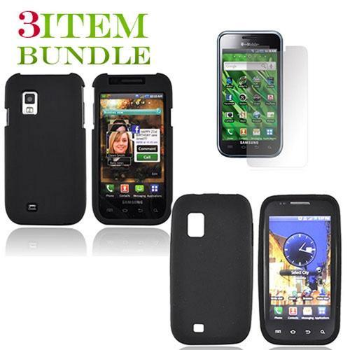 Samsung Fascinate Bundle Package - Black Hard Case, Silicone Case & Screen Protector - (Essential Combo)