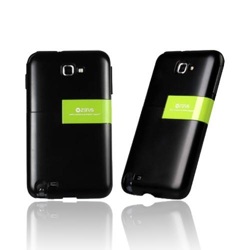 Original Zenus Samsung Galaxy Note Capsule Slide Series Hard Case w/ Kickstand, SAGXN-TS1SJ-BKLM - Black/ Lime Green