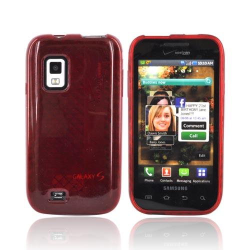 Original Verizon Samsung Fascinate i500 Crystal Silicone Case, SAMI500SILHGRED - Red Diamond