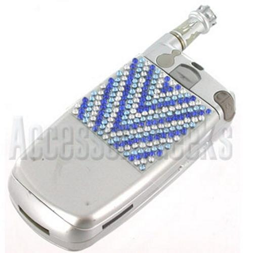 Glistening Blue & Clear V Shape Mini Bling Bling Sticker