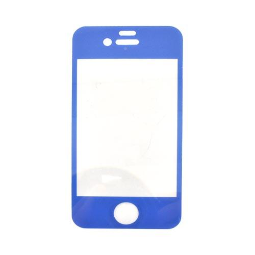 Wezzi AT&T/ Verizon Apple iPhone 4, iPhone 4S Bulletproof Protective Front Cover Film - Blue