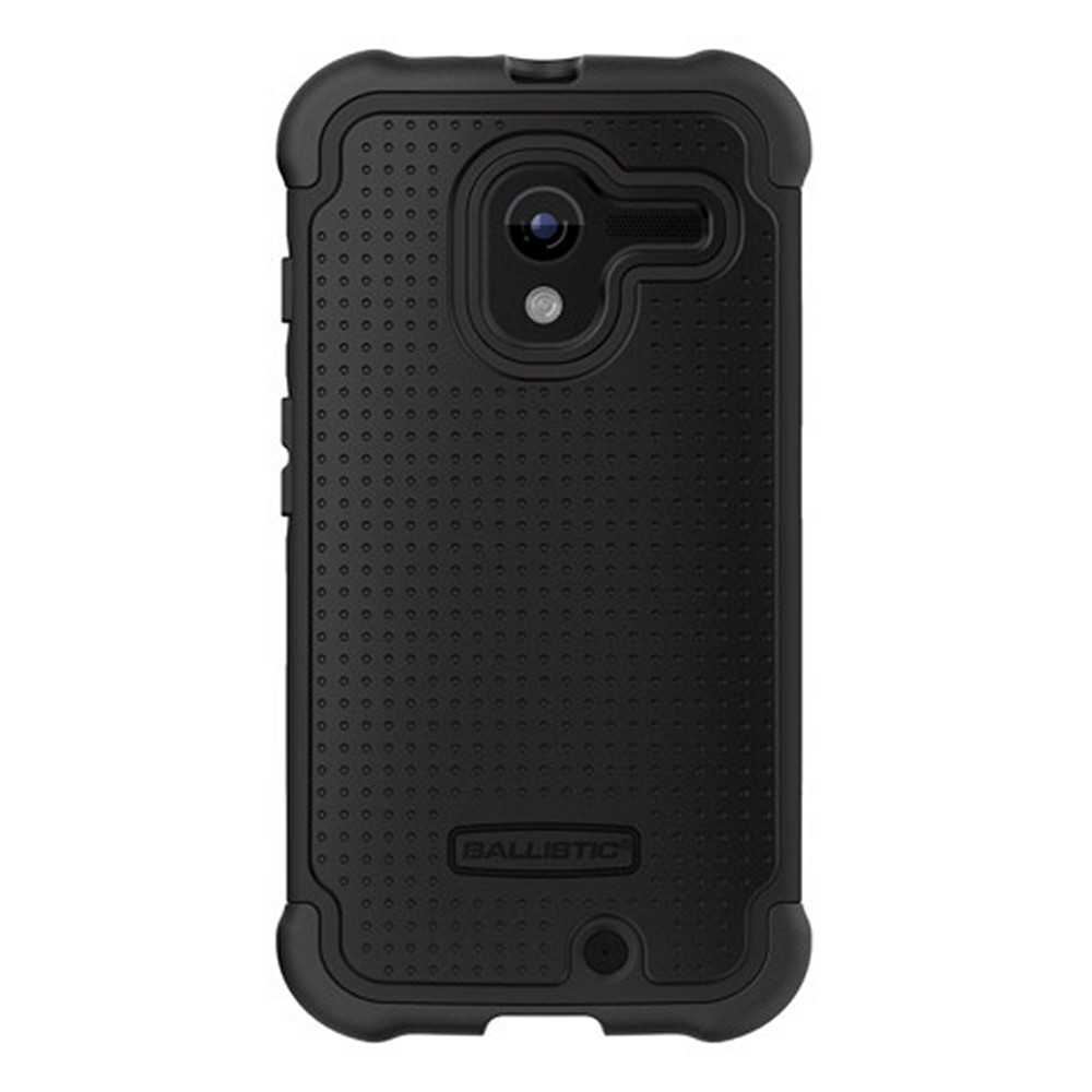 Ballistic Black Shell Gel Series Back Cover Over Silicone Case for Motorola Moto X - SG1188-A065
