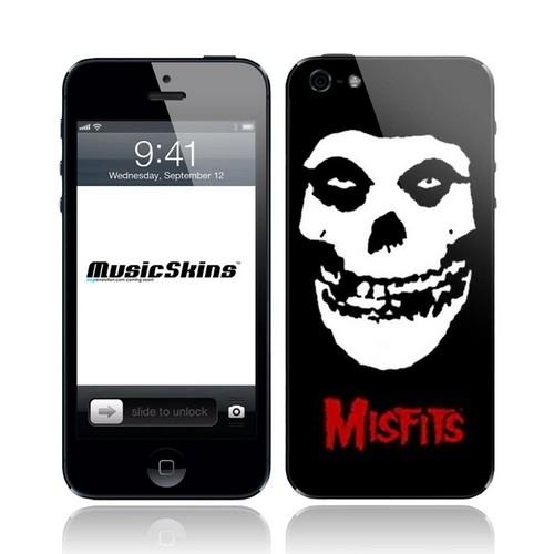 Original Music Skins Apple iPhone 5 Protective Skin - Misfits Crimson Ghost