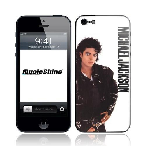 Original Music Skins Apple iPhone 5 Protective Skin - Michael Jackson Bad