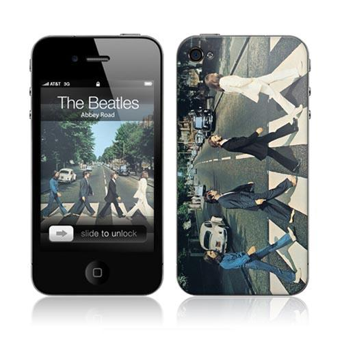 Original Music Skins Apple AT&T/ Verizon iPhone 4, iPhone 4S Protective Skin - The Beatles Abbey Road