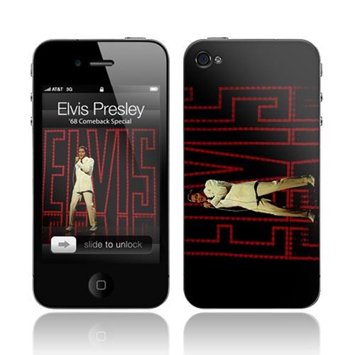 Original Music Skins Apple AT&T/ Verizon iPhone 4, iPhone 4S Protective Skin - Elvis Presley 1968 Comeback Special