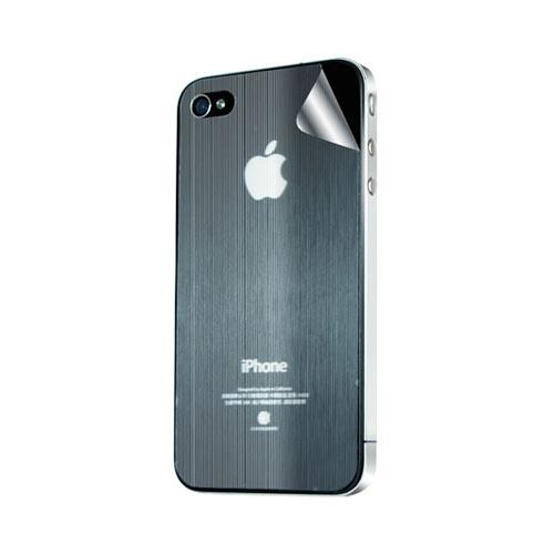 Original Hornettek AT&T/ Verizon Apple iPhone 4, iPhone 4S Scratch-Resistant Protective Skin w/ Screen Protector - Black Hairline Texture