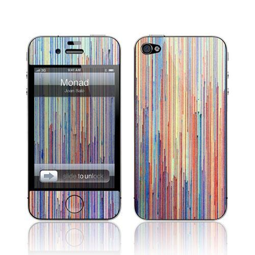 Original GelaSkins AT&T/ Verizon Apple iPhone 4 Protective Skin - Rainbow Lines Monad