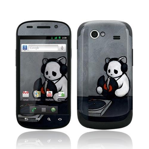 Original GelaSkins Google Nexus S Protective Skin - The Soundtrack (To My Life) Gray w/ White Bear