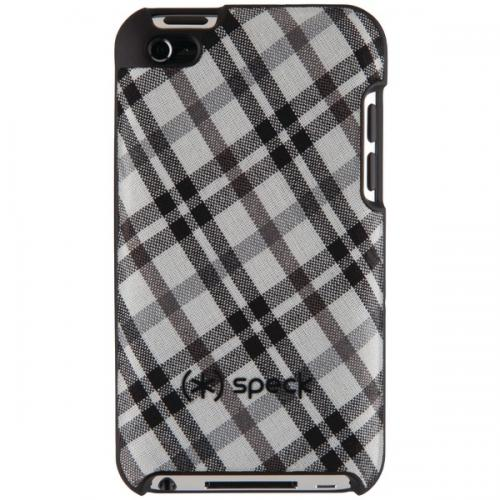 SPECK SPK-A0125 IPOD TOUCH 4G FITTED CASE (TARTANPLAID WHITE)