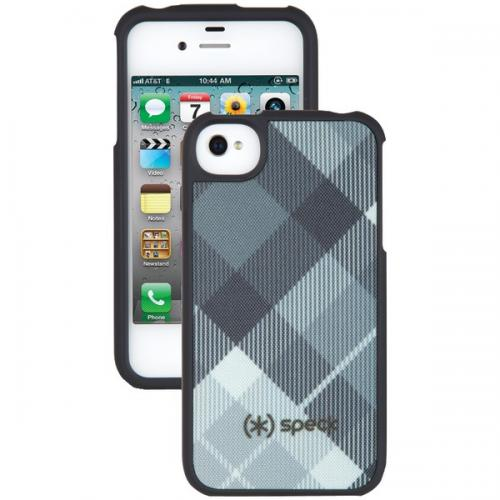SPECK SPK-A0787 IPHONE(R) 4S FITTED CASE (MEGAPLAID BLACK)
