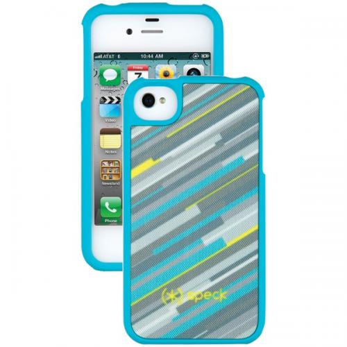 SPECK SPK-A0788 IPHONE(R) 4S FITTED CASE (HYPERSTRIPE TEAL)