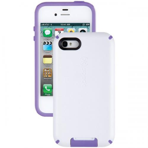 SPECK SPK-A0802 IPHONE(R) 4S CANDYSHELL VIEW CASE (WHITE/AUBERGINE)