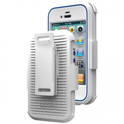 SPECK SPK-A0812 IPHONE(R) 4S MIGHTYVAULT CASE (WHITE/COBALT)