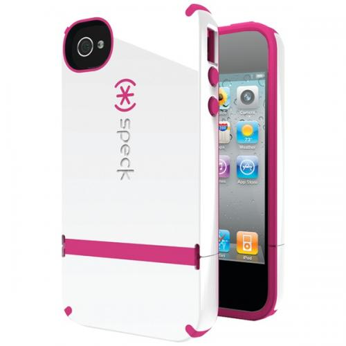 SPECK SPK-A0822 IPHONE(R) 4S CANDYSHELL FLIP CASE (WHITE/RASPBERRY)