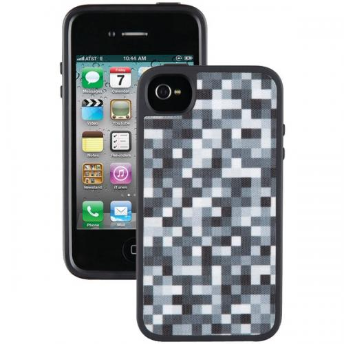SPECK SPK-A1009 IPHONE(R) 4/4S FABSHELL CASE (PIXELPARTY BLACK/WHITE)