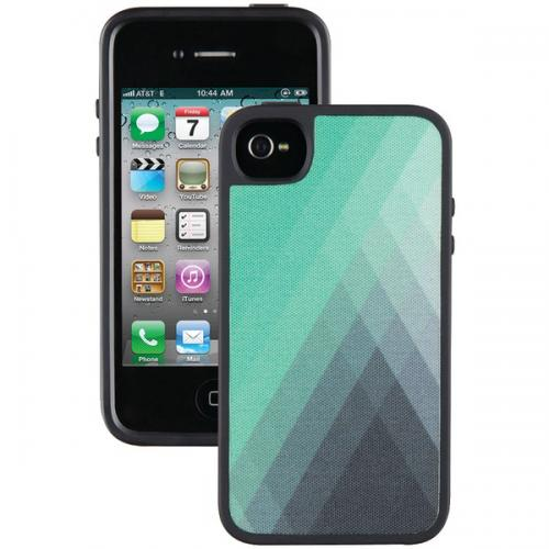 SPECK SPK-A1011 IPHONE(R) 4/4S FABSHELL CASE (DIAMONDFOG GREEN/GRAY)