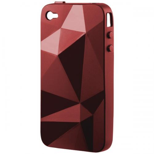 SPECK IPH4-GEO-A06-A IPHONE 4 GEOMETRIC CASE (INDEIROCK RED)