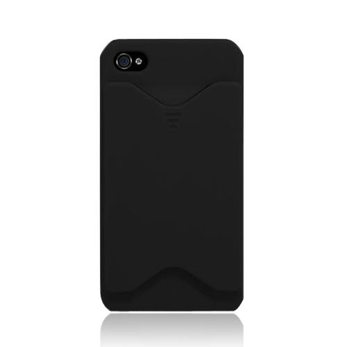Original Sonix Pocket AT&T/ Verizon Apple iPhone 4, iPhone 4S Rubberized Back Cover w/ ID Slot - Black
