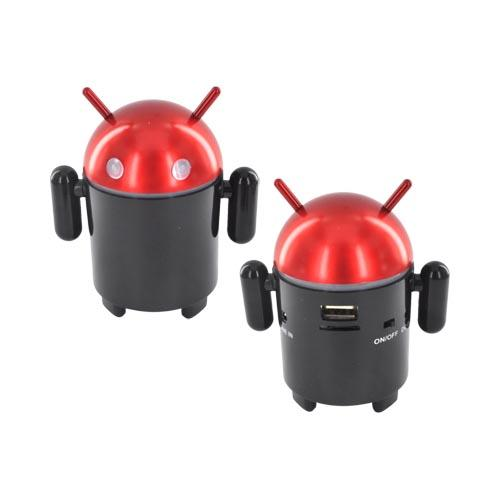 Universal Android Speaker w/ USB/ Micro SD/ 3.5mm Ports & FM Radio - Black/ Red