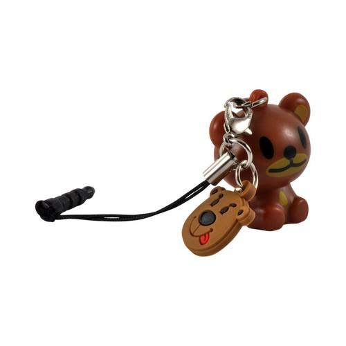 Brown Bear Universal 3.5mm Light Up Headphone Jack Stopple Charm