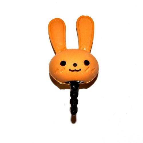 Universal 3.5mm Headphone Jack Stopple Charm - Cute Light Brown Bunny