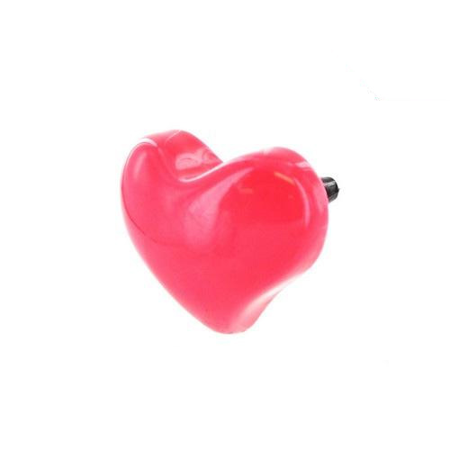 Universal 3.5mm Headphone Jack Stopple Charm - Hot Pink Heart