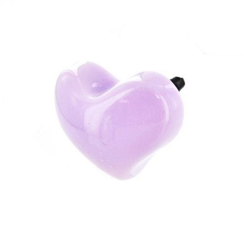 Universal 3.5mm Headphone Jack Stopple Charm - Lavender Heart