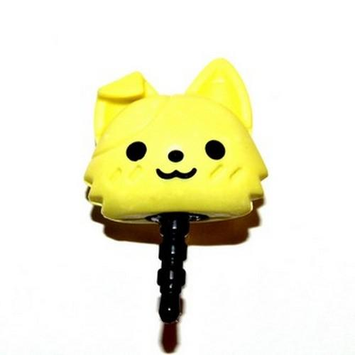 Universal 3.5mm Headphone Jack Stopple Charm - Cute Yellow Kitty