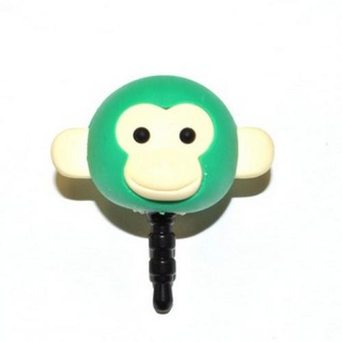 Universal 3.5mm Headphone Jack Stopple Charm - Green Monkey