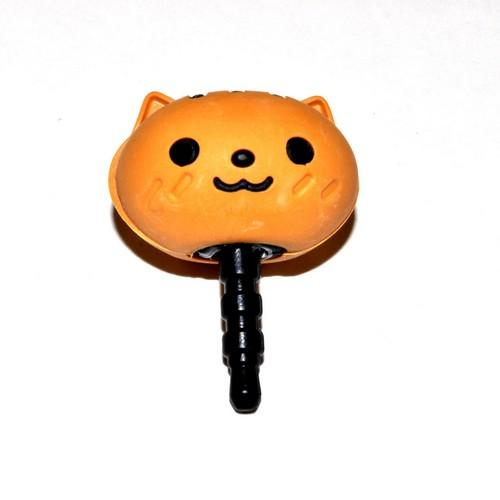 Universal 3.5mm Headphone Jack Stopple Charm - Cute Brown Squirrel