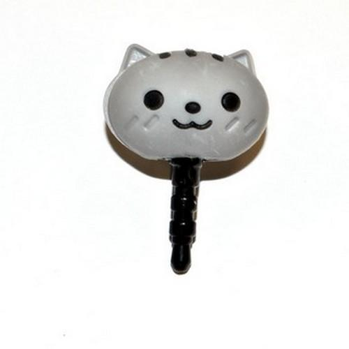 Universal 3.5mm Headphone Jack Stopple Charm - Cute Gray Squirrel