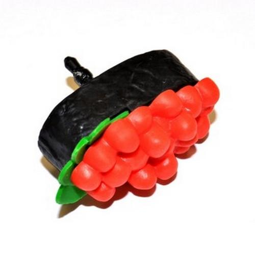 Universal 3.5mm Headphone Jack Stopple Charm - Red/ Black Sushi